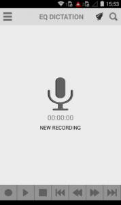 EQ Dictation: Recording Screen
